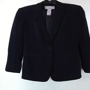 Navy Blue Silk Jacket